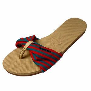 Havaianas Ivory You Saint Tropez Flip Flop Sandals